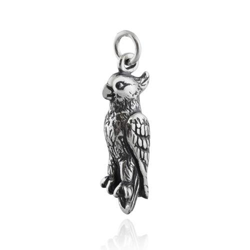 Cockatiel Bird Charm-Argent Sterling 925 Pet plumes perroquet Cacatoès NEUF