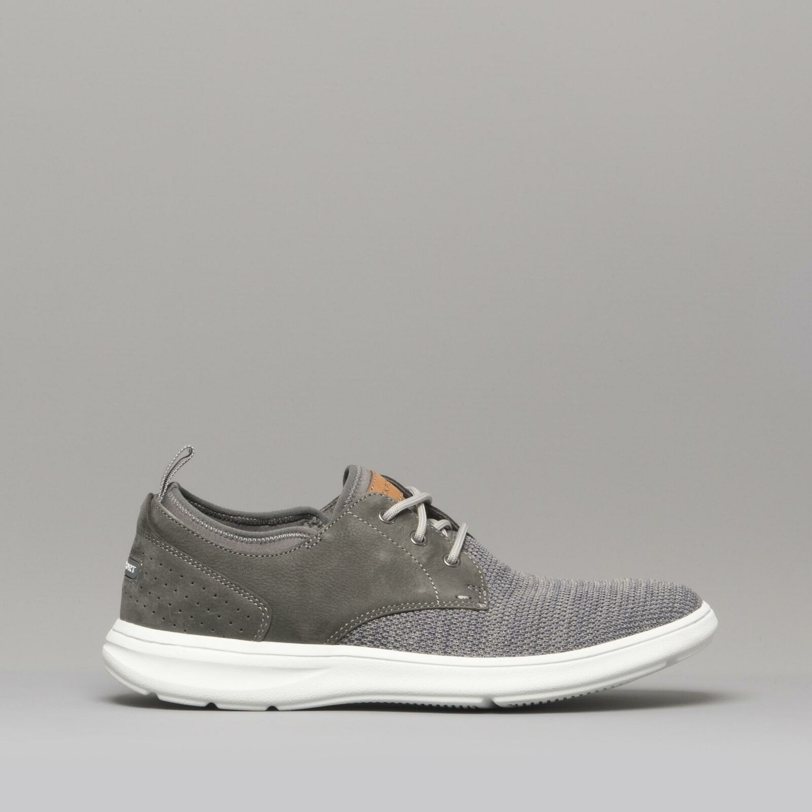 Rockport ZADEN Mens Textile Casual Summer Lace Trainers Pewter grau