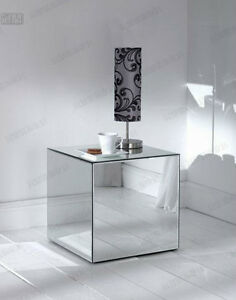 Image Is Loading Mirror Glass Cube Table  Furniture Exhibition Shows Foldable