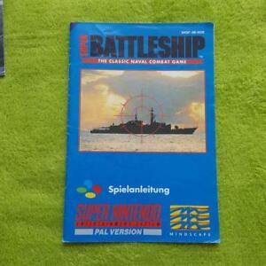 Snes-Super-Battleship-Instrucciones-Manual-Manual-Folleto