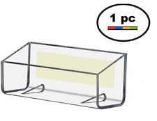 Clear plastic wall mount vertical business card holder display item 3 one clear acrylic plastic peel stick wall mount business card holder display one clear acrylic plastic peel stick wall mount business card reheart Choice Image