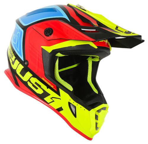 NEW JUST1 BLADE MOTOCROSS ENDURO MX HELMET JUST 1 YELLOW RED CRF CR RM YZ KX EC
