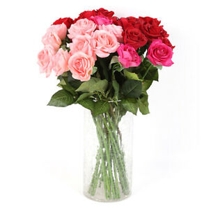 PM-Valentine-039-s-Day-Gift-Artificial-Fake-Roses-Flower-Christmas-Wedding-Home-D