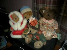 RETIRED BOYDS BEARS 4 PIECE LOT LARGE BOYDS BEARS WITH CERTIFICATES BEAUTIES