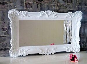 Specchio da Parete Barocco Bianco Rettangolare Antico Bagno 96 X57 ...
