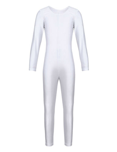 Girl Gymnastics Leotard Kid Ballet Full Body Suit Jumpsuit Costume Dance Clothes