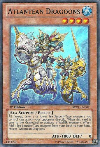 Starte 1x Atlantean Dragoons 1st Edition NM YuGiOh Super Rare SDRE-EN002