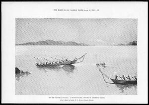 1899-Antique-Print-AFRICA-Victoria-Nyanza-Hippopotamus-Shooting-Party-255
