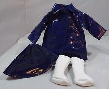 Original trendon Sasha Muñeca Traje Abrigo Mac Azul y Blanco Botas Parte Set 804