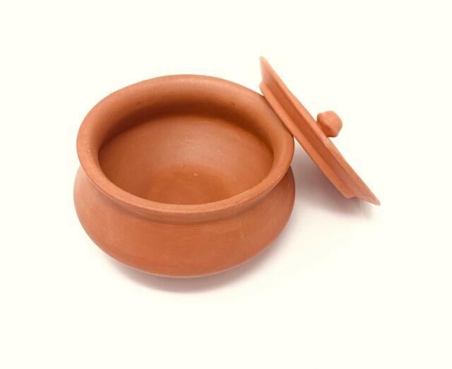 Terracotta Clay Handi For Serving Cooking Mitti Handi Curd Pot 75 L 1 L