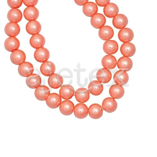 30 Couleurs Czech Perles Nacrée Verre Les Ronde Spacer 3//4//6//8//10//12//14mm