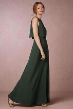 NWT SZ 14 $298 Anthropologie Iva Crepe Maxi Dress By Jill Stuart BHLDN Wedding