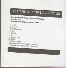 sunny day real estate  lp2 cd promo reissue sub pop