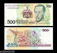 Brasil 500 Cruzeiros 1990 p-226 Perfecto Unc sin circulación los billetes de banco