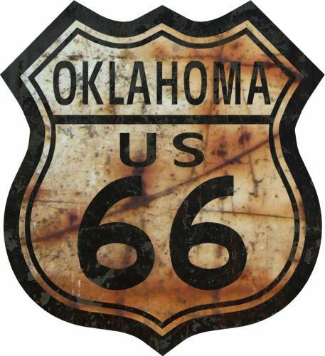 """5/"""" Route 66 Oklahoma Decal Sticker Rat Rod US Highway One ProSticker 819"""