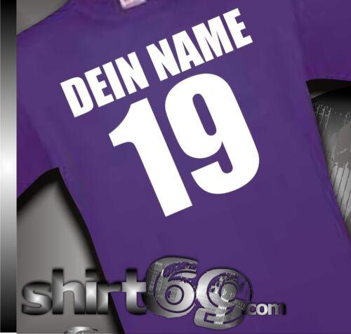T-Shirt im Trikot Style mit Wunschname und Wunschnummer EM WM S-XXL WMman0001