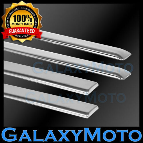 03-06 Chevy Silverado Crew Cab 4 Door Chrome Body Side Molding Front+Rear 4pcs