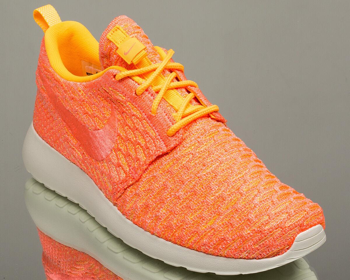 Nike WMNS Roshe NEW One Flyknit Damens lifestyle Turnschuhe rosherun NEW Roshe laser orange 793c4a