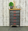 Industrial-Side-Cabinet-Small-Vintage-Sideboard-Storage-Drawer-Unit-Rustic-Metal thumbnail 4