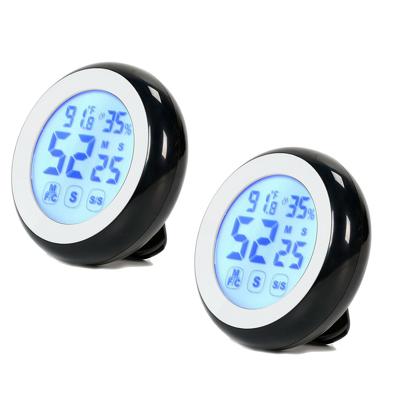 2x Timer Digitale da Cucina Magnetico con Display LCD Temperatura igrometrica