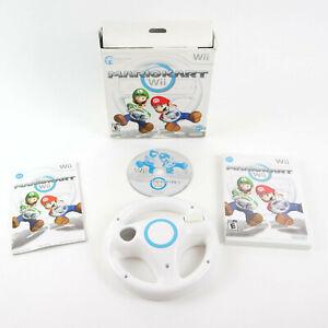 Mario Kart Wii With Steering Wheel (Nintendo Wii) Big Box Bundle-Tested Complete
