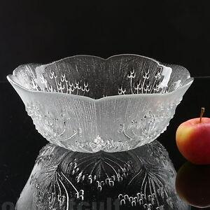 Dansk-Designs-Glasschale-Schale-Floriform-Textured-Ice-Clear-Glass-Bowl-28cm-11-034