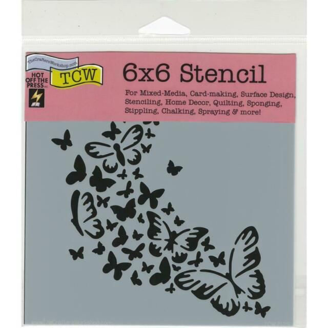"""The Crafter's Workshop Stencils 6""""x6"""" - Butterfly Trail TCW712s"""