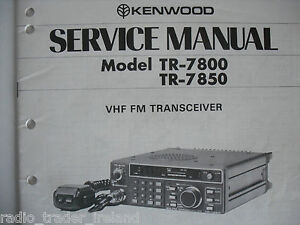 kenwood tr 7800 7850 service manual only rh ebay co uk TR -7800 Kenwood TR -7800 Kenwood