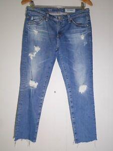 215-AG-Jeans-The-Stilt-Cigarette-Leg-in-17-Years-Riot-Destroyed-Size-28R