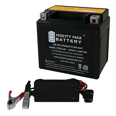 12V 1AMP CHARGER Mighty Max YTX5L-BS Battery for YAMAHA TTR230E 230CC 06-/'07