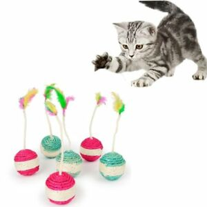 Pet-Cat-Kitten-Toy-Rolling-Sisal-Scratching-Funny-Kitten-Play-Doll-Random-Color
