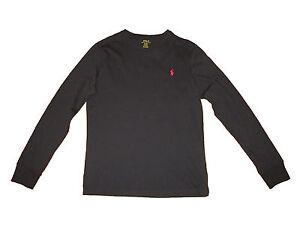 0453c3280f99 Polo Ralph Lauren Black Red Custom Fit Long Sleeve T Shirt XL ...