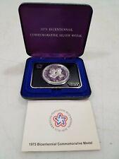1973 Sterling Silver Bicentennial American Revolution Commemorative 1oz Medal