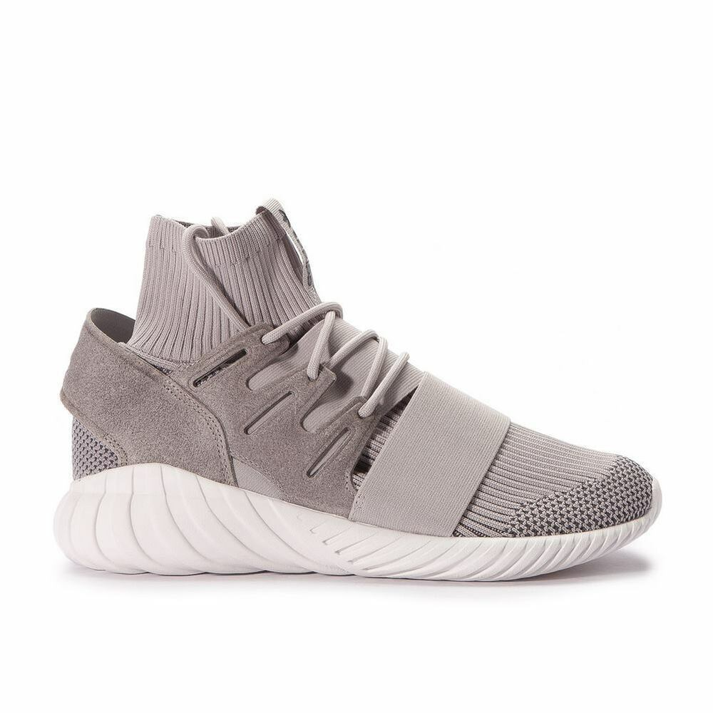 ADIDAS TUBULAR DOOM PRIMEKNIT-clair granite/blanc vintage S80102-uk 11 12-