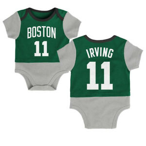 finest selection 793e3 f94ad Kyrie Irving Boston Celtics 2-Color Baby Newborn Coverall ...