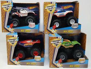 Hot-Wheels-Monster-Jam-Rev-Tredz-opcion-de-4-ruedas-monstruo-diferentes-NUEVO