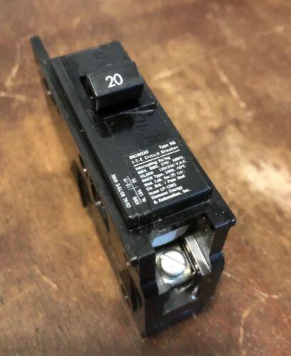 ITE BQ1B020 1 Pole 20 Amp Mid Tab Bolt On Circuit Breaker 1P 20A