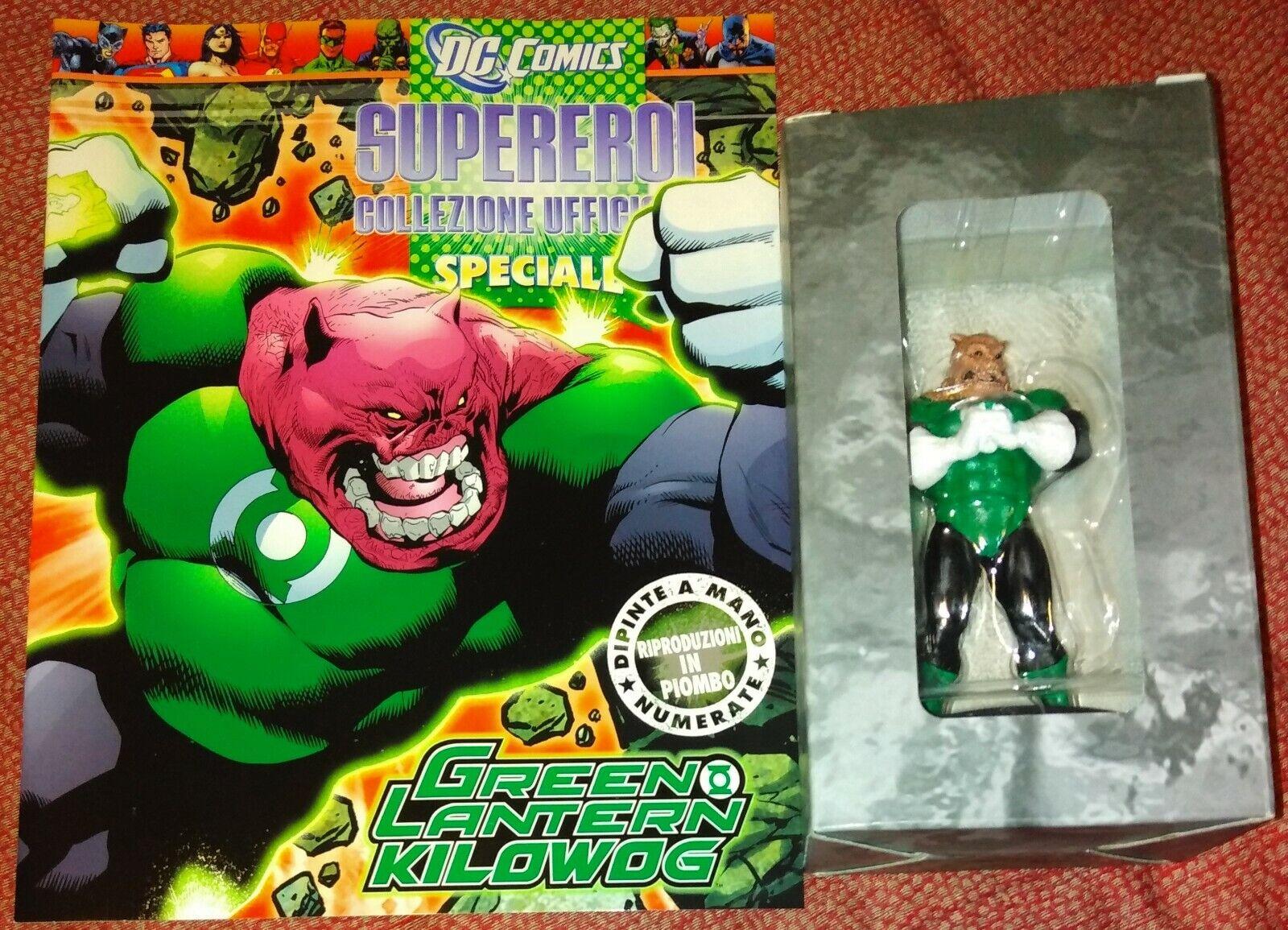 DC COMICS SUPEREROI EAGLEMOSS specialeeE  KILOWOG verde LANTERN NUOVA CON FASC.