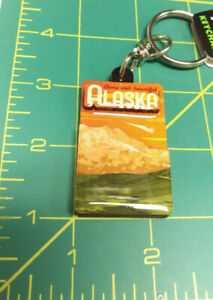 Alaska-KeyChain-Come-Visit-Beautiful-Alaska-Mountain-scene-one-side-layered