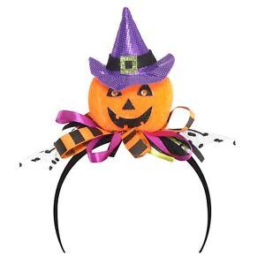 qualità incredibile prezzo favorevole abile design Dettagli su Donne Adulti Bambini Peluche Zucca Strega di Halloween  Cerchietto per Capelli