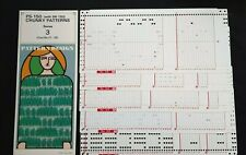 PC353B SILVER REED KNITTING MACHINE PUNCH CARDS BULKY PS150 SR150 RIBBER 21-25