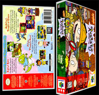 Rugrats Scavenger Hunt 64 - N64 Reproduction Art Case/box No Game.