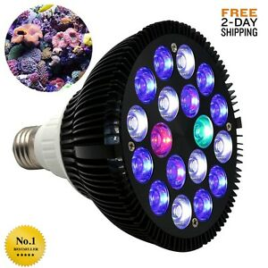 details about kingbo 18w led aquarium light bulb par38 e27 6 band full spectrum reef tank new