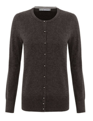 M/&S Bubble Button Size 16 Charcoal Cardigan BNWT