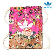 size 40 4e988 6043c ADIDAS ORIGINALS FARM JARDINETO GYMSACK AJ8704 pink floral trefoil bag  backpack