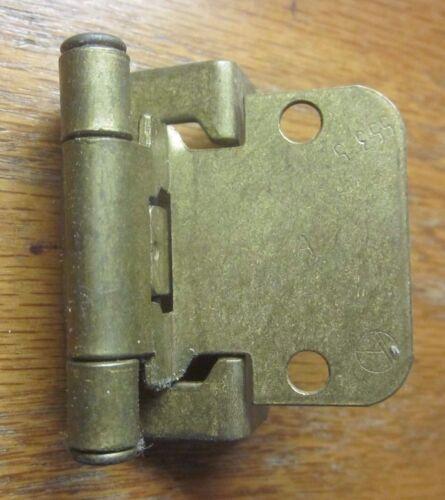 "1 Amerock 7553 7548K Cabinet Door Hinge Self Close Wrap Frame Brass 1//4/"" O/'lay"