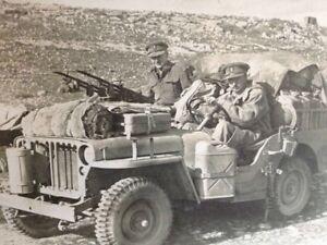 Ww2 Wwii Photo World War Two British Long Range Desert Group Jeep