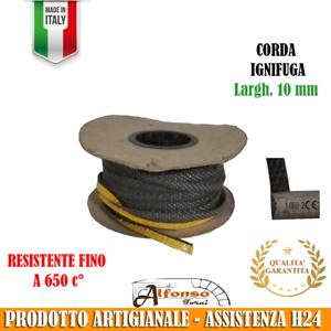 CORDA PIATTA DA 10 mm IGNIFUGA ADESIVA PER STUFE CAMINI E FORNI 650° C