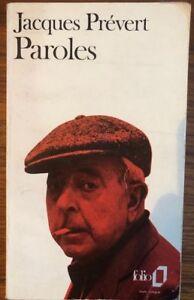 Details About Paroles By Jacques Prévert Vintage Paperback 1972 In French