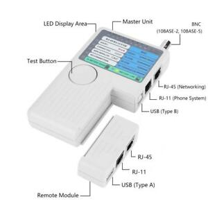 Swell 4 In 1 Lan Network Cable Tester Remote Rj11 Rj45 Usb Bnc Utp Stp Wiring Digital Resources Indicompassionincorg
